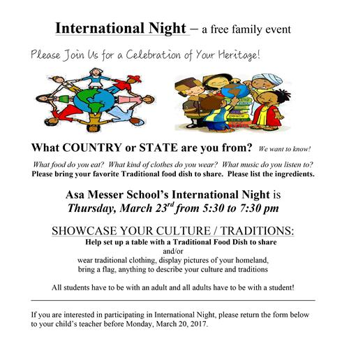 Asa Messer International Night 2017