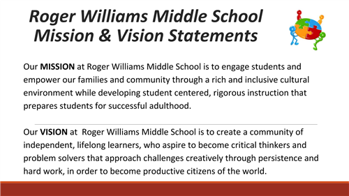 RWMS Mission and Vision
