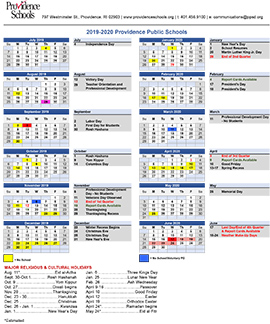 NEW: SY 2019-20 Academic Calendar