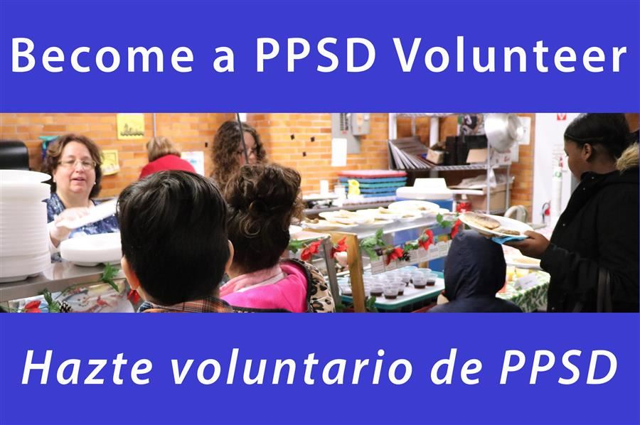 Become a PPSD Volunteer / Hazte voluntario de PPSD