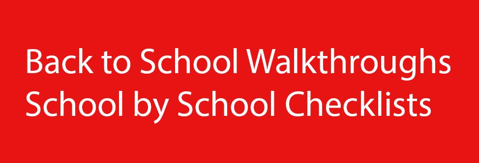School-by School Walkthrough Checklists